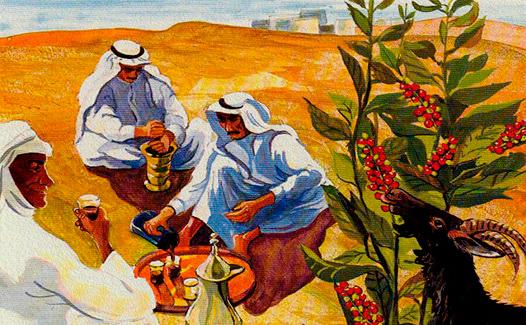 фото как арабы пьют кофе