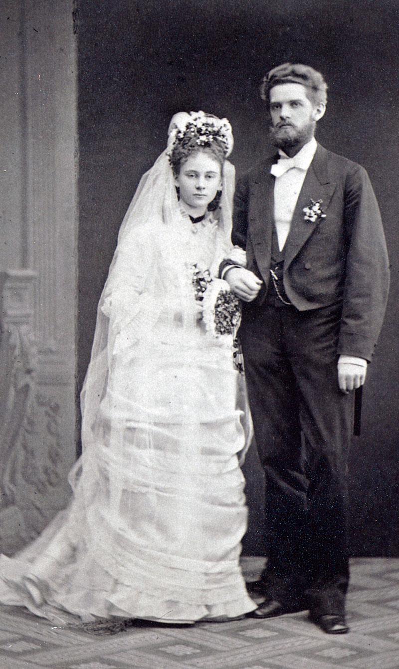 фото Густава Паулига и его жены Берты