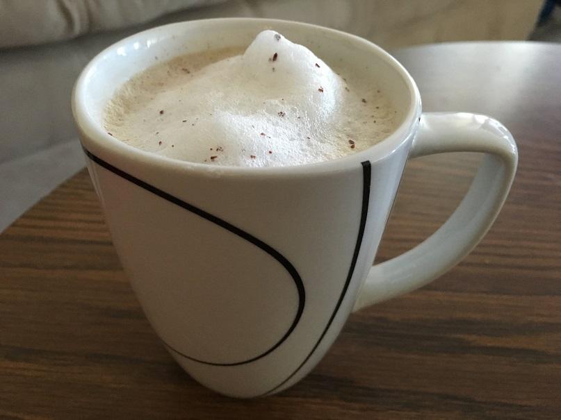 фото капучино без кофемашины из микроволновой печи