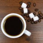 фото кофе эспрессо в чашке с сахаром