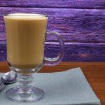 фото кофе латте в бокале