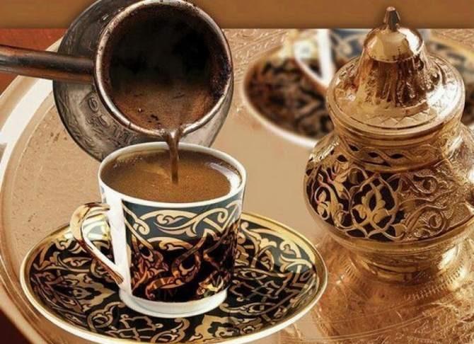 фото заваренного в турке кофе по арабски