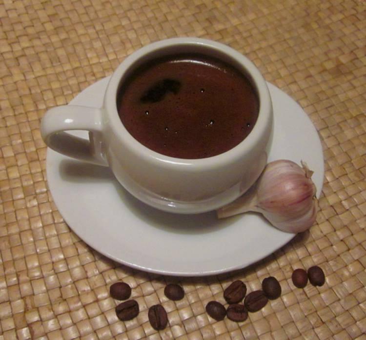 фото кофе с чесноком в турке по-шпионски