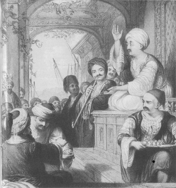 фото кофейни в Оттоманской империи