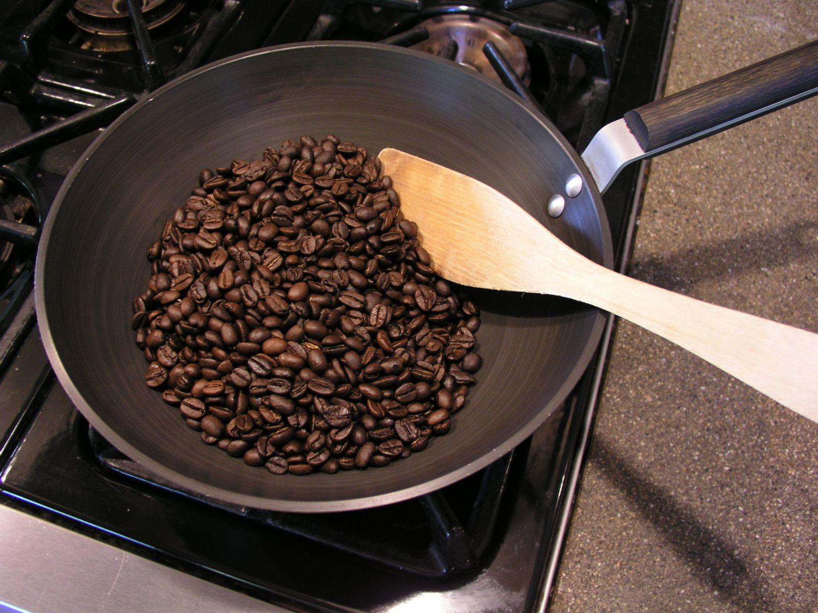 фото обжарки кофе на сковороде в домашних условиях
