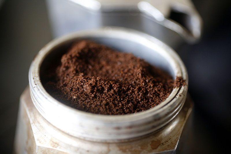фото правильного помола кофе для гейзерной кофеварки