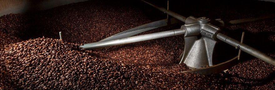 фото процесса промышленной обжарки кофейных зерен