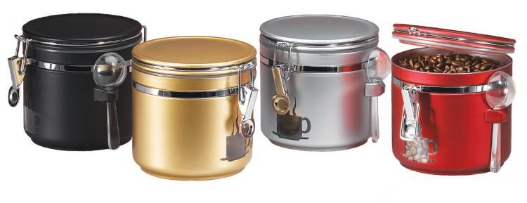 фото непрозрачных банок для хранения кофе