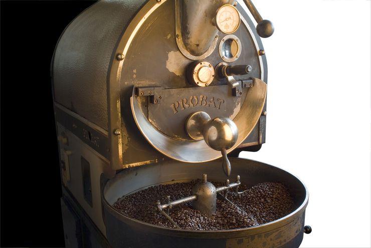 фото барабанного ростера для кофе