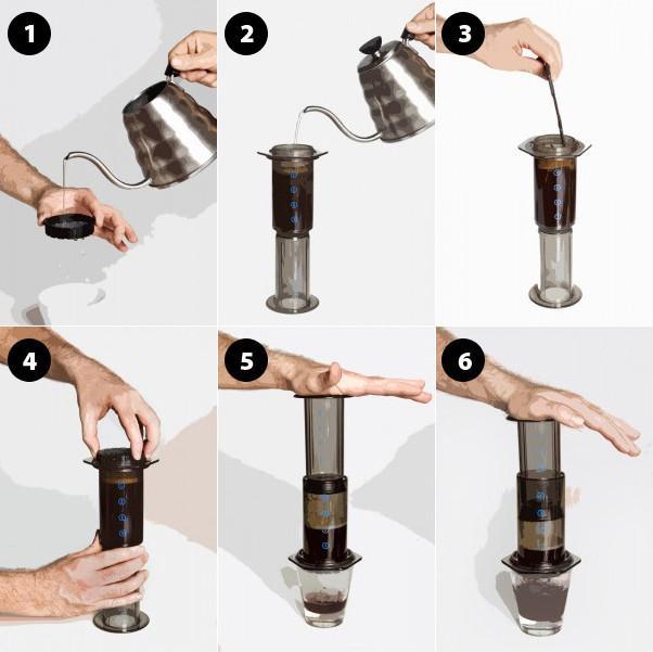 фото инструкция как правильно готовить кофе в аэропрессе