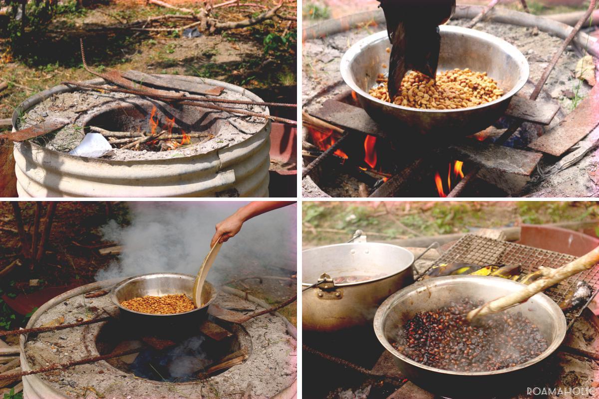 фото как обжаривают кофе в Эквадоре