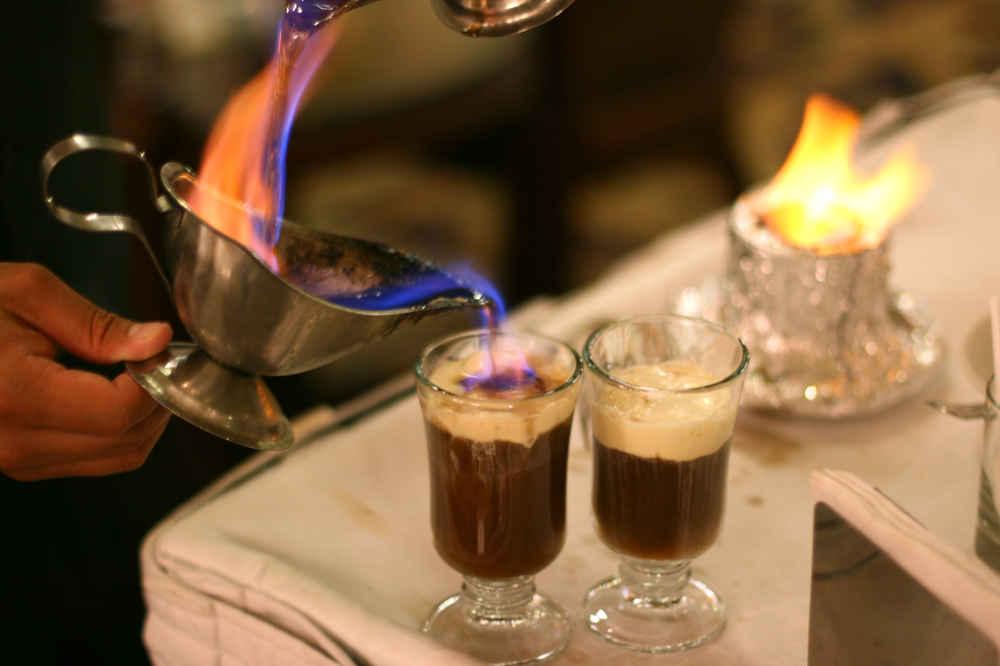 Огненный айриш кофе фото