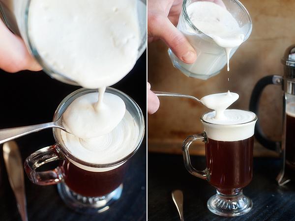 фото процесса приготовления ирландского кофе