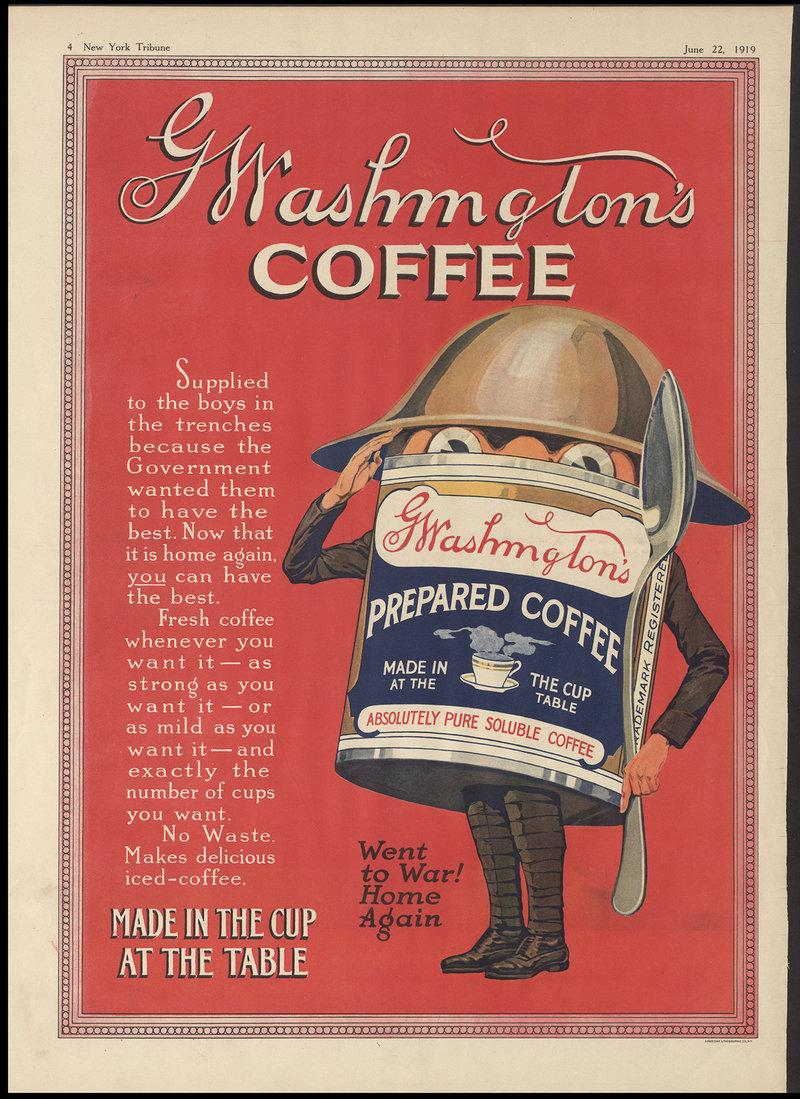 военная реклама растворимого кофе