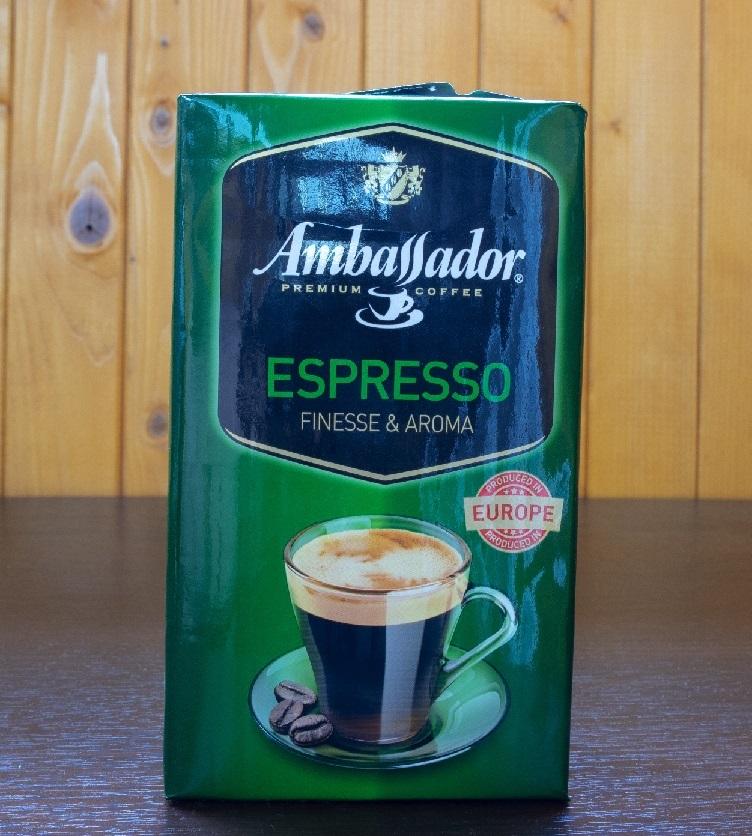 фото этикетки кофе Амбассадор эспрессо