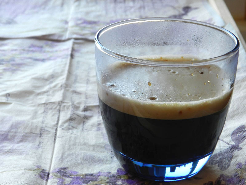 фото кофе эспрессо с пенкой