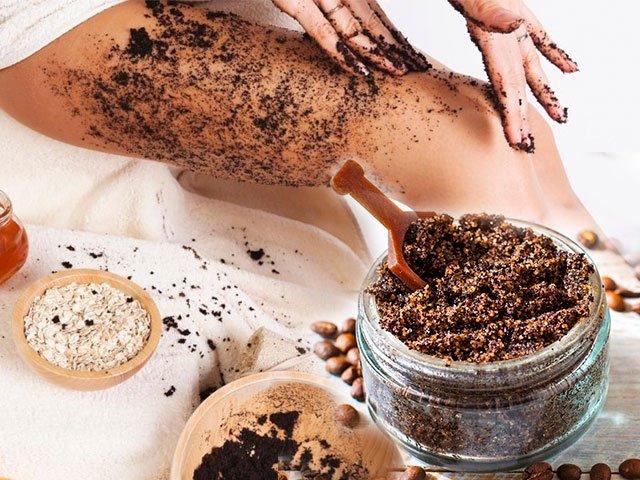 фото как правильно наносить кофейный скраб на тело