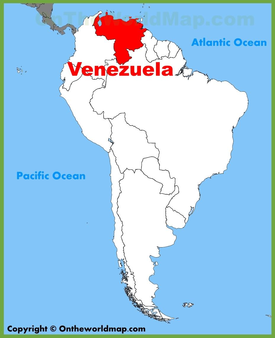 фото карты Венесуэлы