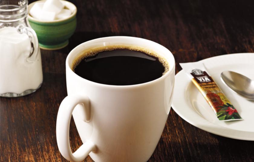 фото заваренного сублимированного кофе