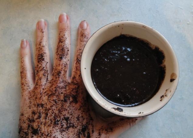 фото скраба из кофе для рук