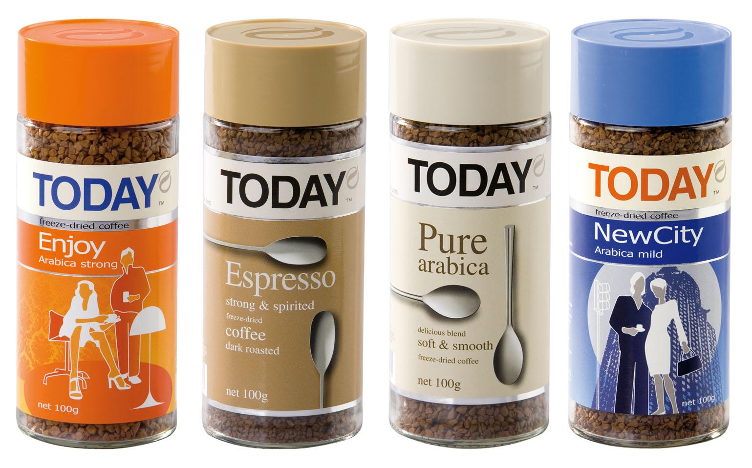 фото асортимента растворимого кофе тудей