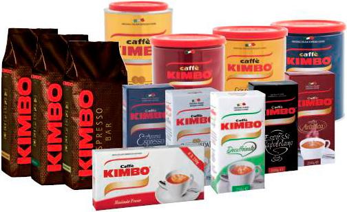 фото видов кофе кимбо