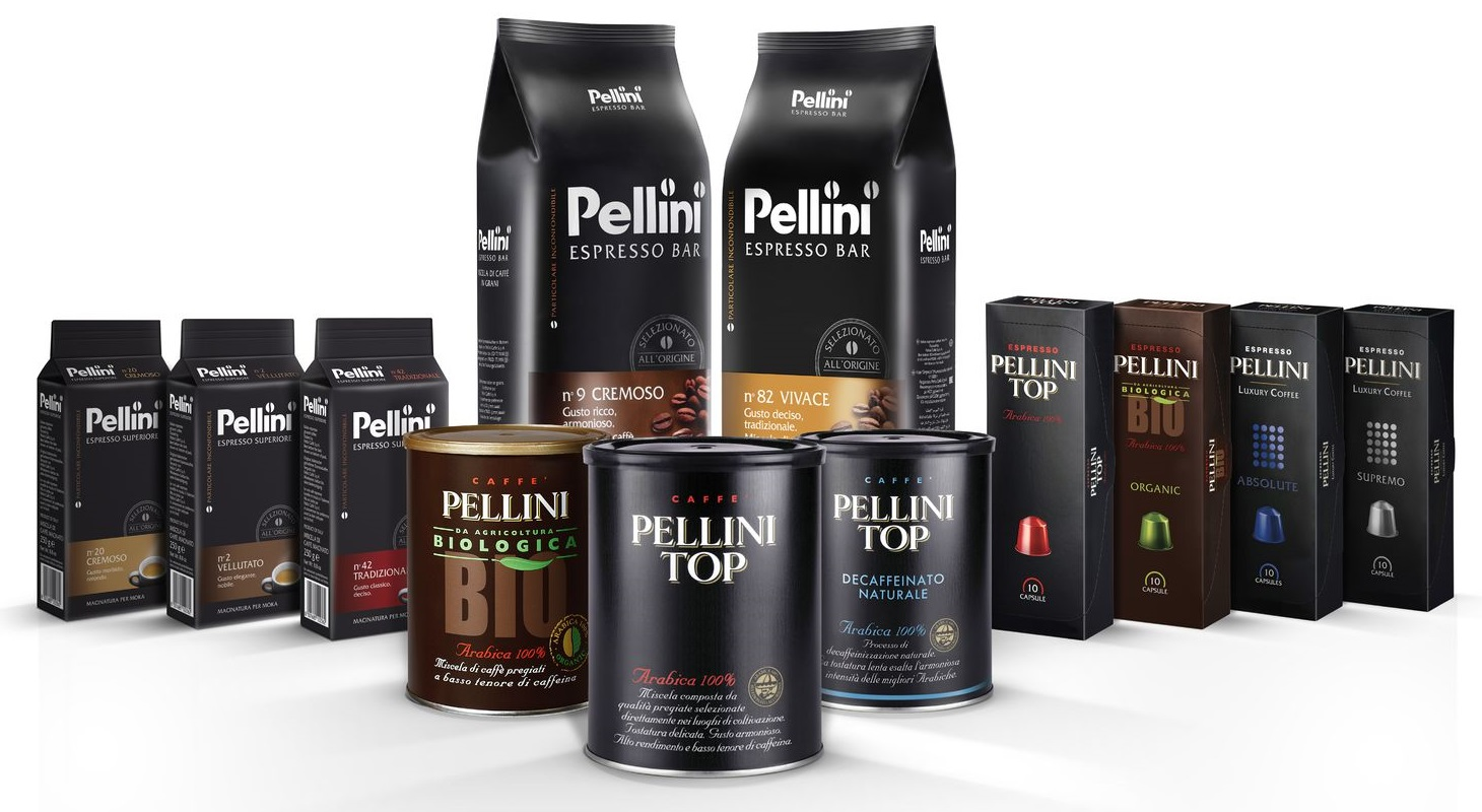 ассортимент кофе Пеллини