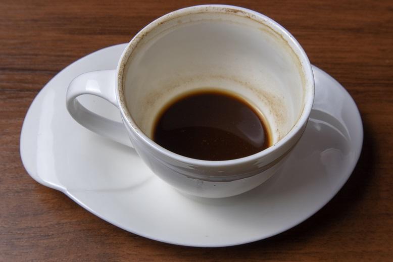 фото чашки с выпитым кофе