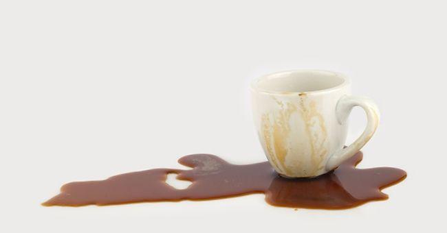 примета пролитый кофе