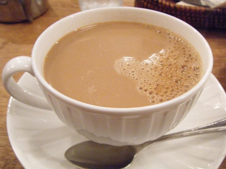 фото кафе-о-ле, сделанного в домашних условиях