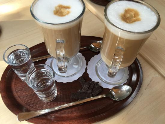 фото кофе меланж, приготовленного в домашних условиях