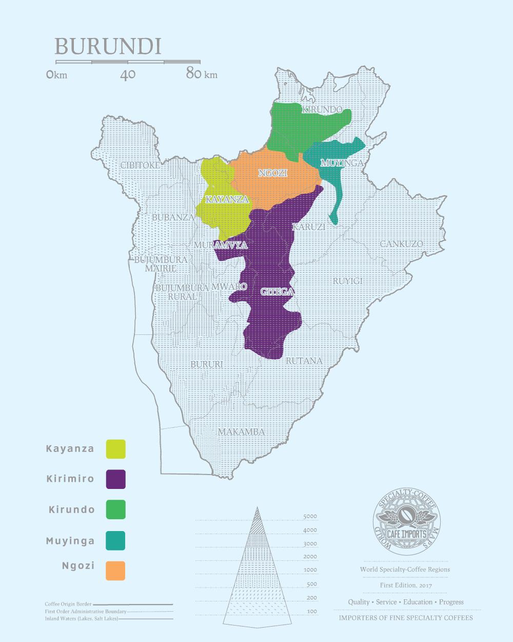 фото карты производтсва кофе в Бурунди