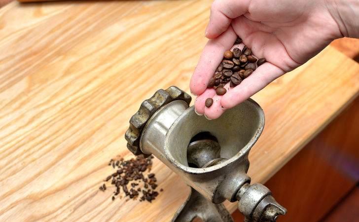 фото как смолоть кофе в мясорубке
