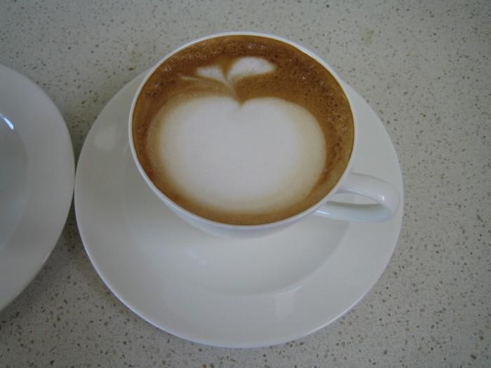 фото кофе-арт яблоко