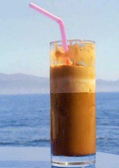 фото греческого кофе фраппе
