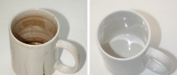 как почистить кружку от кофейного налета