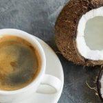 фото кофе и кокосового молока