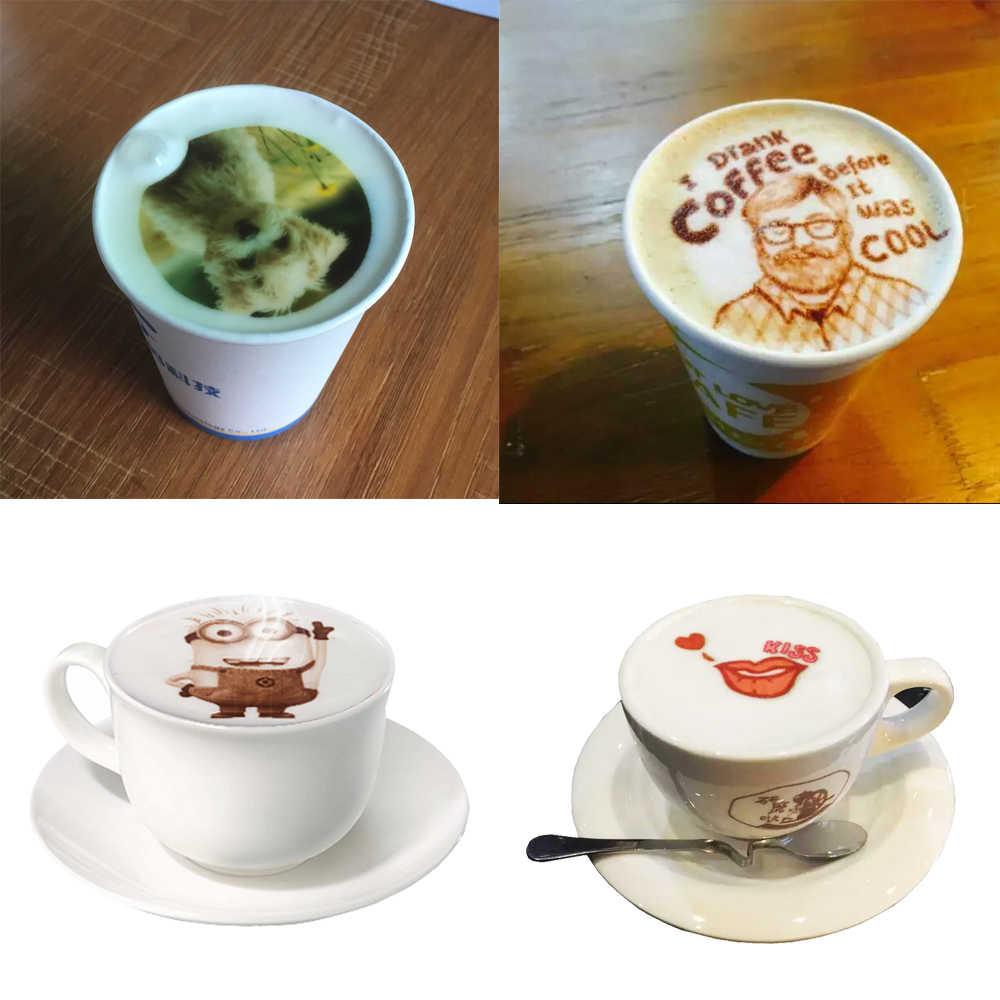 фото латте арт на кофе-принтере