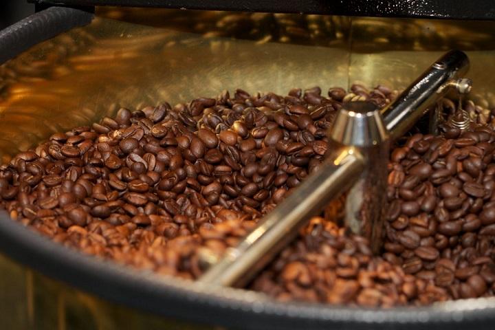 фото процесса обжарки кофе