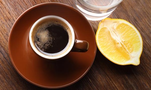 фото кофе с лимонным соком