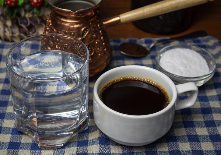 Классический кофе с солью фото